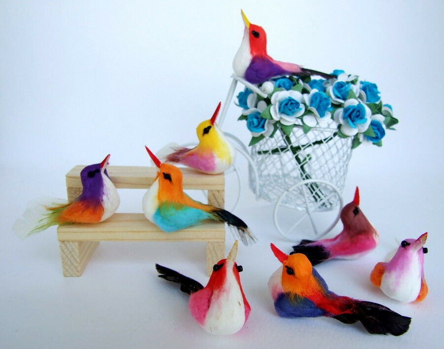 10 artificial birds ornaments foam floral crafts for Fake birds for crafts