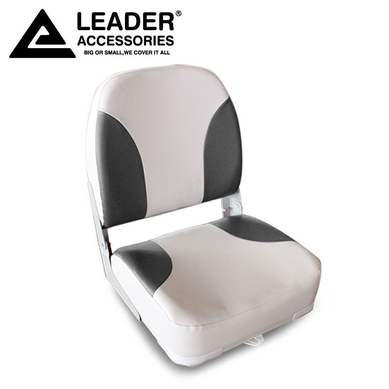 New Deluxe Highback Grey Charocal Marine Vinyl Boat Seat
