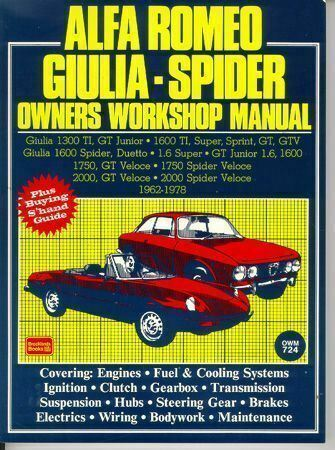 ALFA ROMEO SHOP MANUAL SERVICE REPAIR BOOK OWNERS WORKSHOP