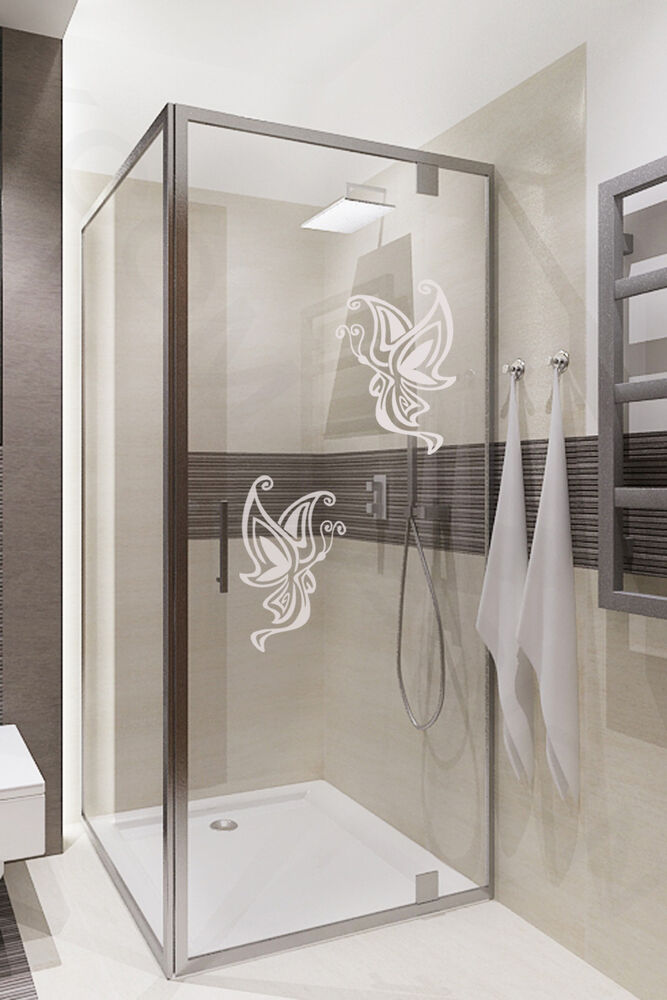 Butterfly Art Home Stickers Frosted Decal Bathroom Door