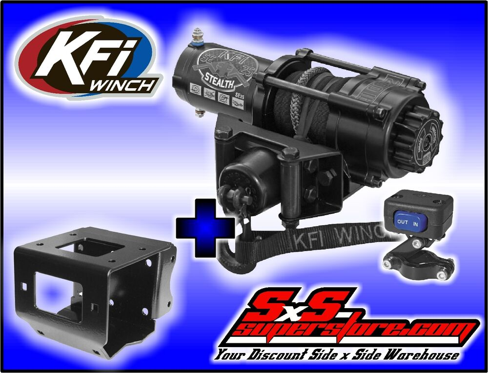 Polaris Scrambler 850 >> 2500 lb KFI Stealth Winch Combo Polaris Sportsman 550 850 XP 11+ 400 500 570 800 | eBay