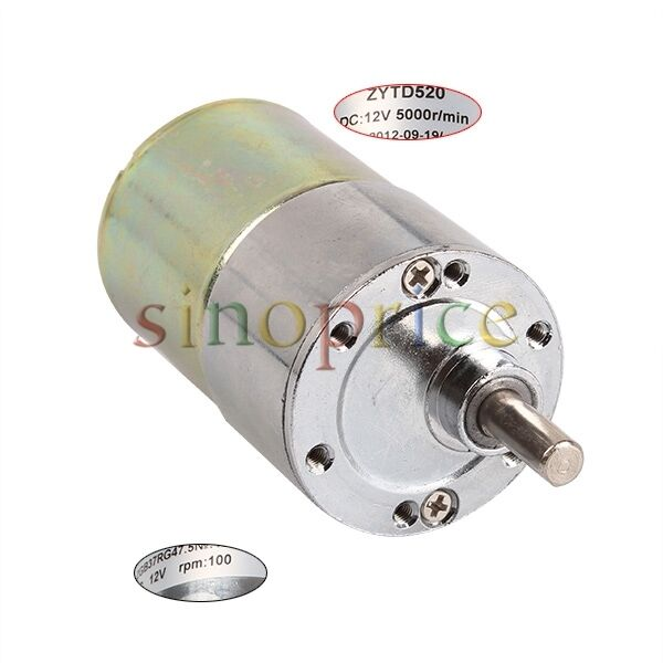 12v dc 100 rpm high torque gear box speed control electric