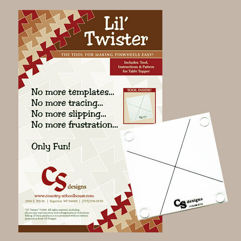 lil twister tool acrylic template instructions lil table topper quilt pattern ebay. Black Bedroom Furniture Sets. Home Design Ideas