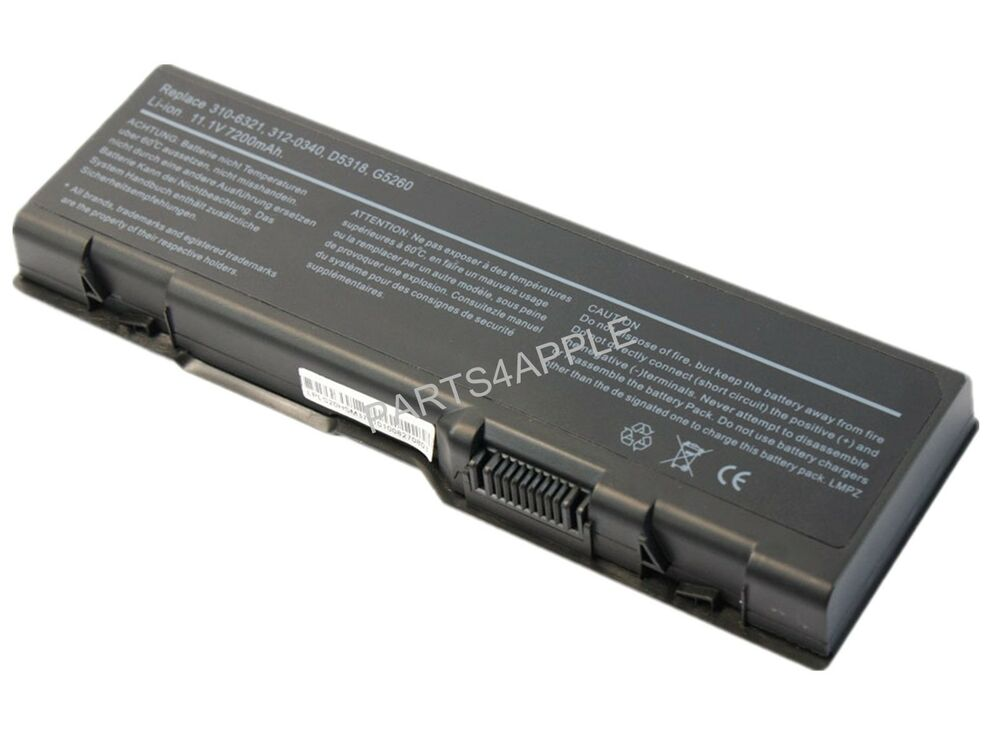 new generic 7200mah battery for dell inspiron 6000 9200 9300 9400 e1705 xps m170 ebay. Black Bedroom Furniture Sets. Home Design Ideas