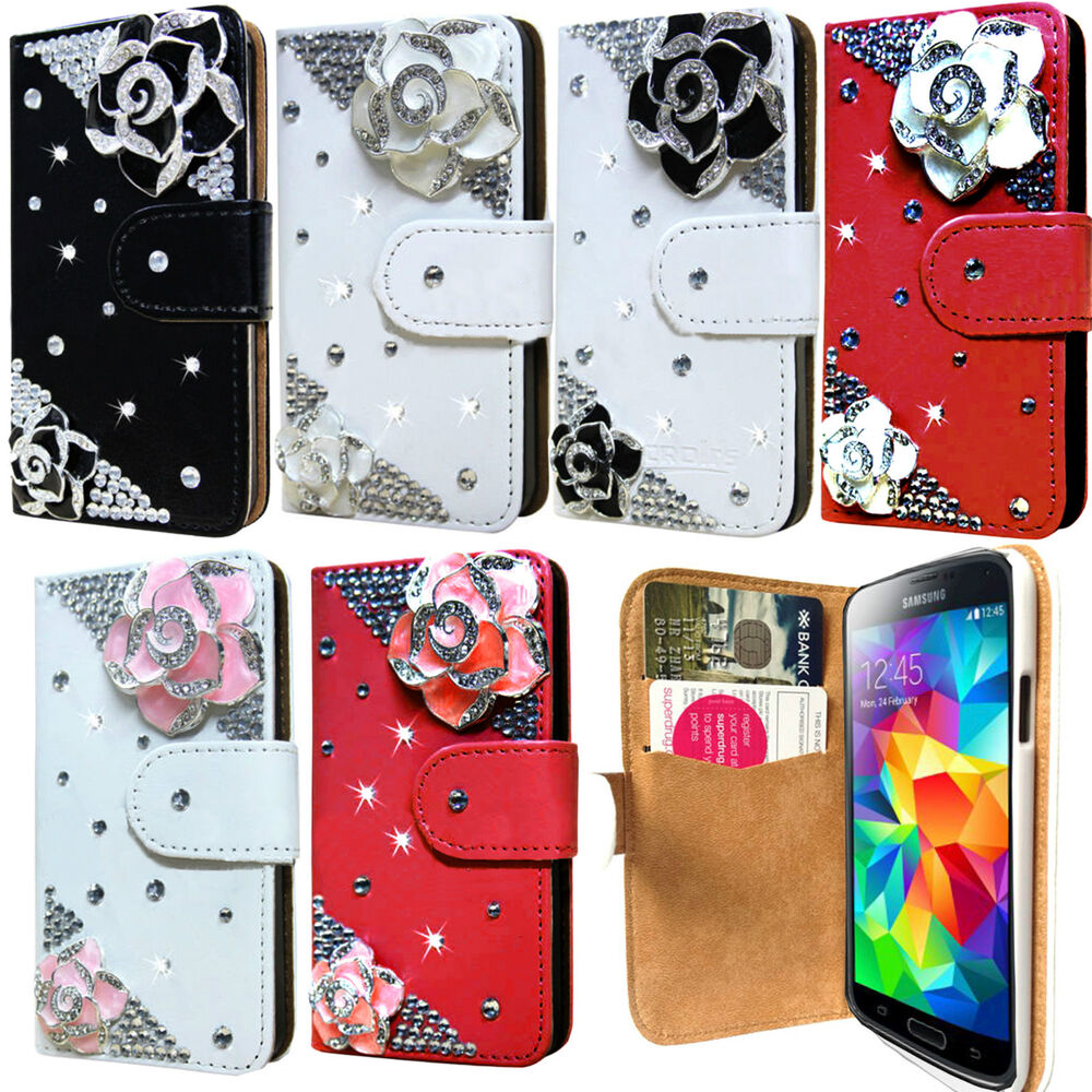 New 3d bling diamond leather wallet flip case cover for for 3d decoration for phone cases