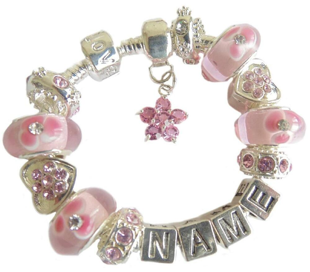 PERSONALISED CHILDRENS/LADIES/GIRLS ANY NAME CHARM