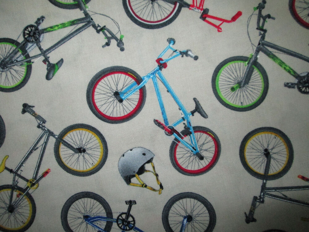 BMX RACING BIKE BICYCLE CREAM COTTON FABRIC BTHY | eBay