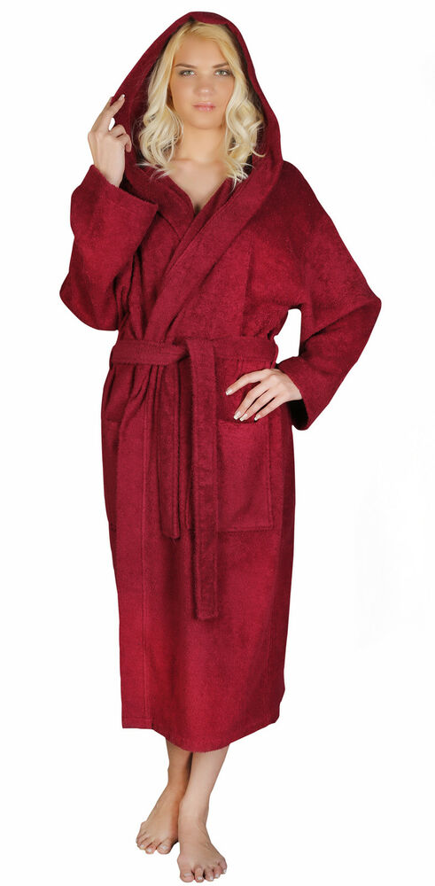 I absolutely Love this Robe! It's % terry cloth cotton is very durable & soft. The length is perfect on me. I prefer a shorter robe. It looks & feels like a luxury spa robe.