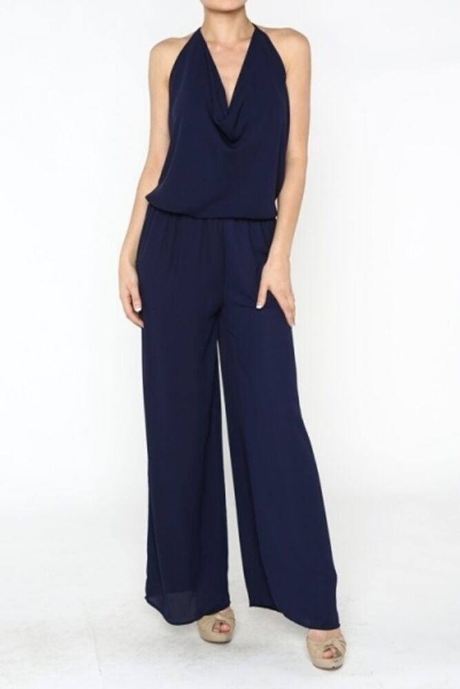 Popular Women39s Formal Jumpsuit In Navy Blue  FREE By SandyWatersStore 60
