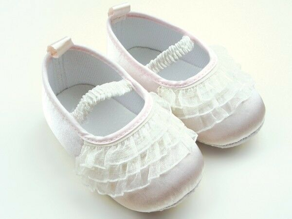 NEW Baby Girl White Lace Ruffles Christening Ballerina ...