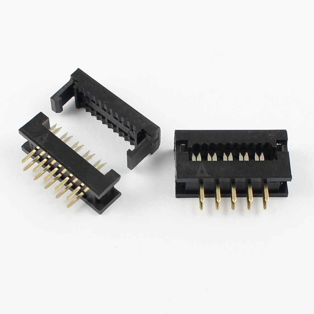 Ribbon Connector 10 : Pcs mm pin male header idc ribbon cable