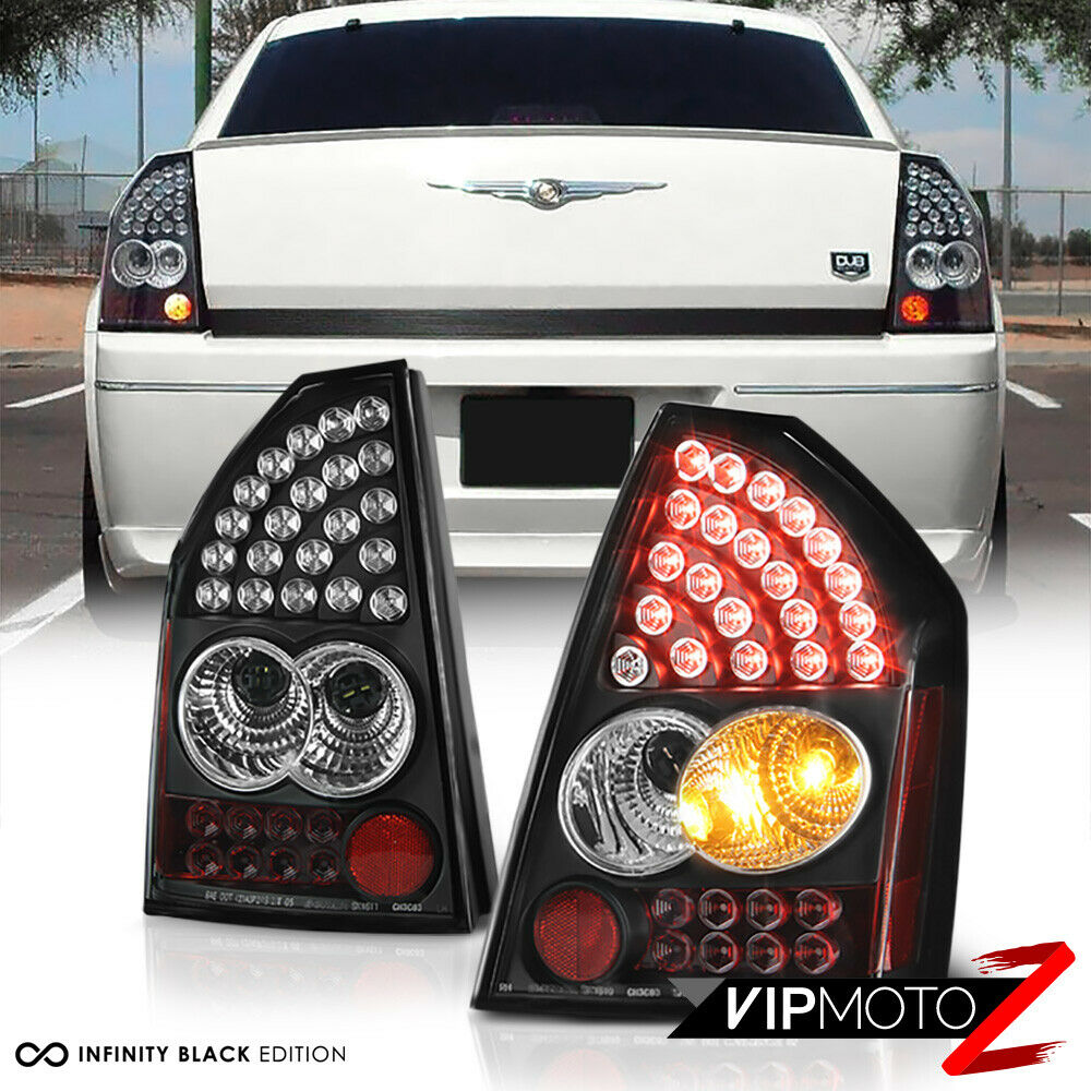 Chrysler 300 2006 Black Led Tail Lights: 05 06 07 Chrysler SRT8 300C LED Black Tail Lights Lamps