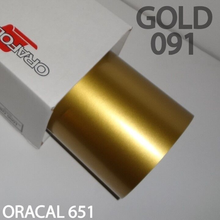 3x Oracal 651 Gold Vinyl 091 12 Quot Inch Silhouette