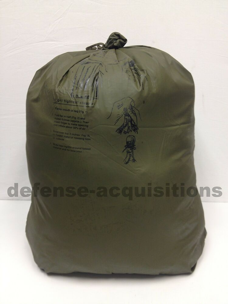 New Us Military Waterproof Dry Bag Pack Liner Wet Weather Bag Size 3 Large Ebay