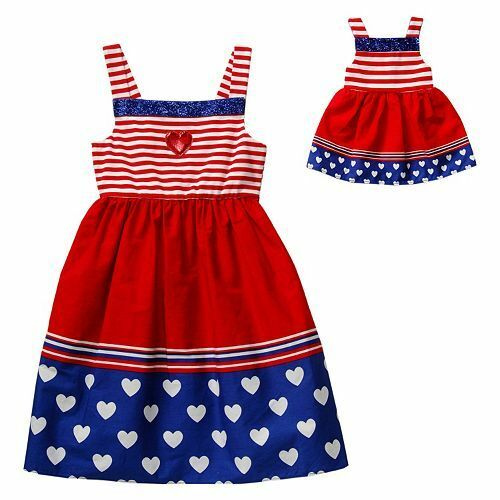 dollie me 4 14 and doll matching patriotic dress