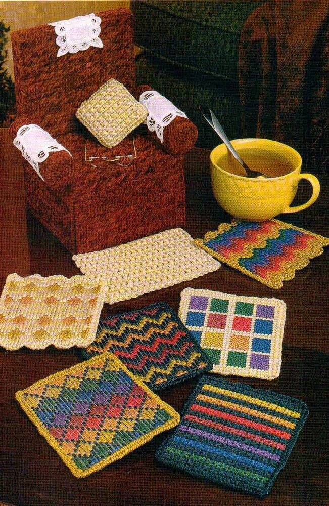 Cozy Coaster Chair Set Plastic Canvas Pattern Instructions