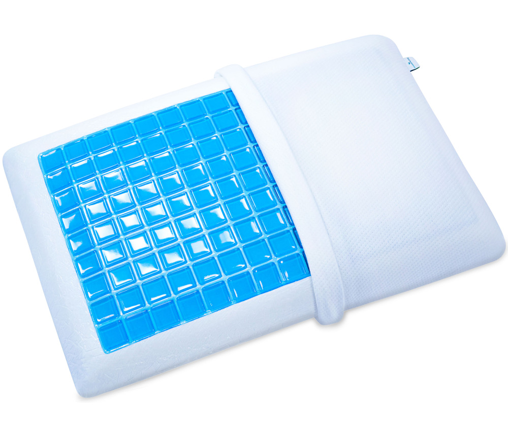 Memory Foam Pillow With Cooling Gel And Washable Case
