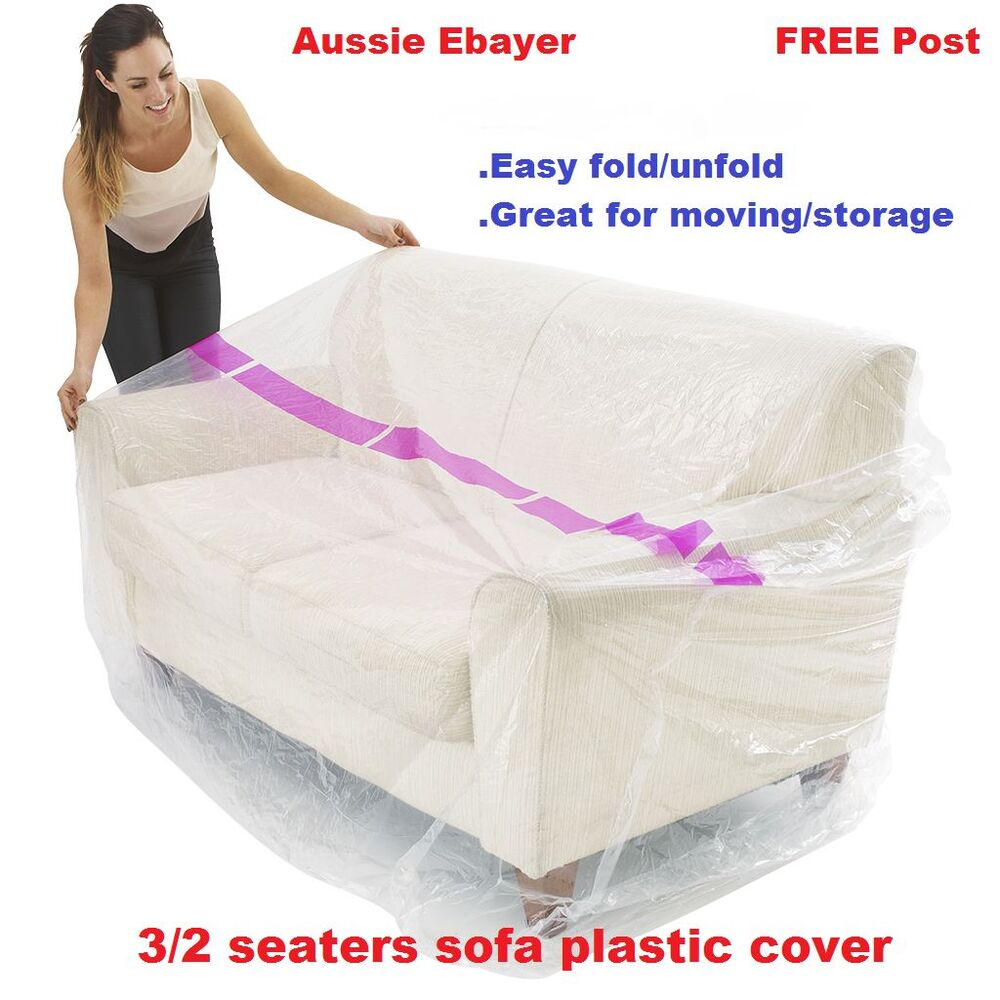 3seaters Sofa Furniture Protector Plastic Protection Cover