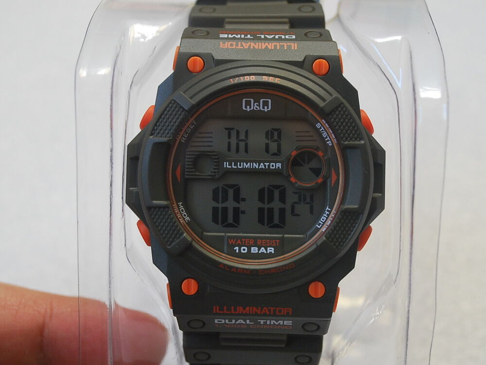 Q q by citizen illuminator dual time men 39 s sports watch m140j003y ebay for Q q watches