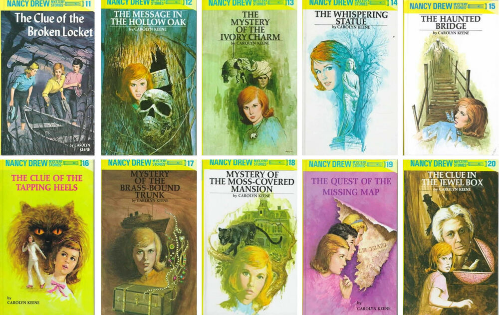 nancy drew collection set 11 20 childrens books fiction mystery detective series ebay