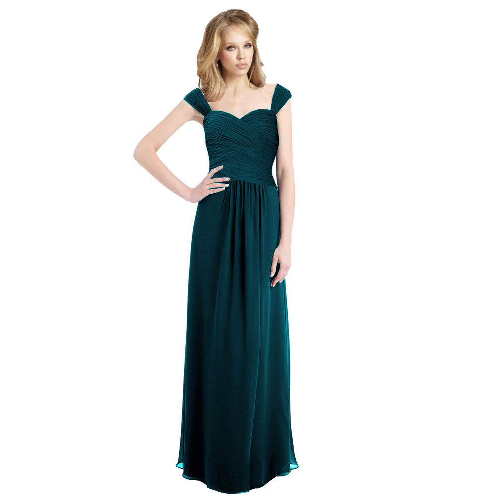 Sophisticated Chiffon Floor Length Formal Evening Gown