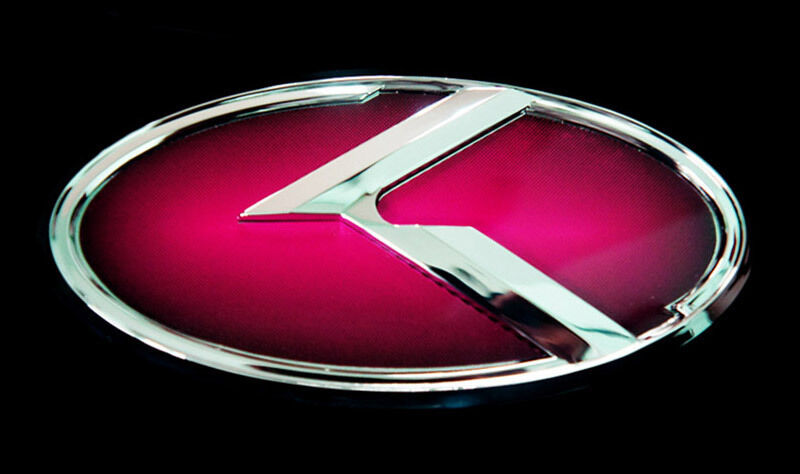 Front Grille Amp Rear Trunk 3d Red Emblem Badge For Kia 11