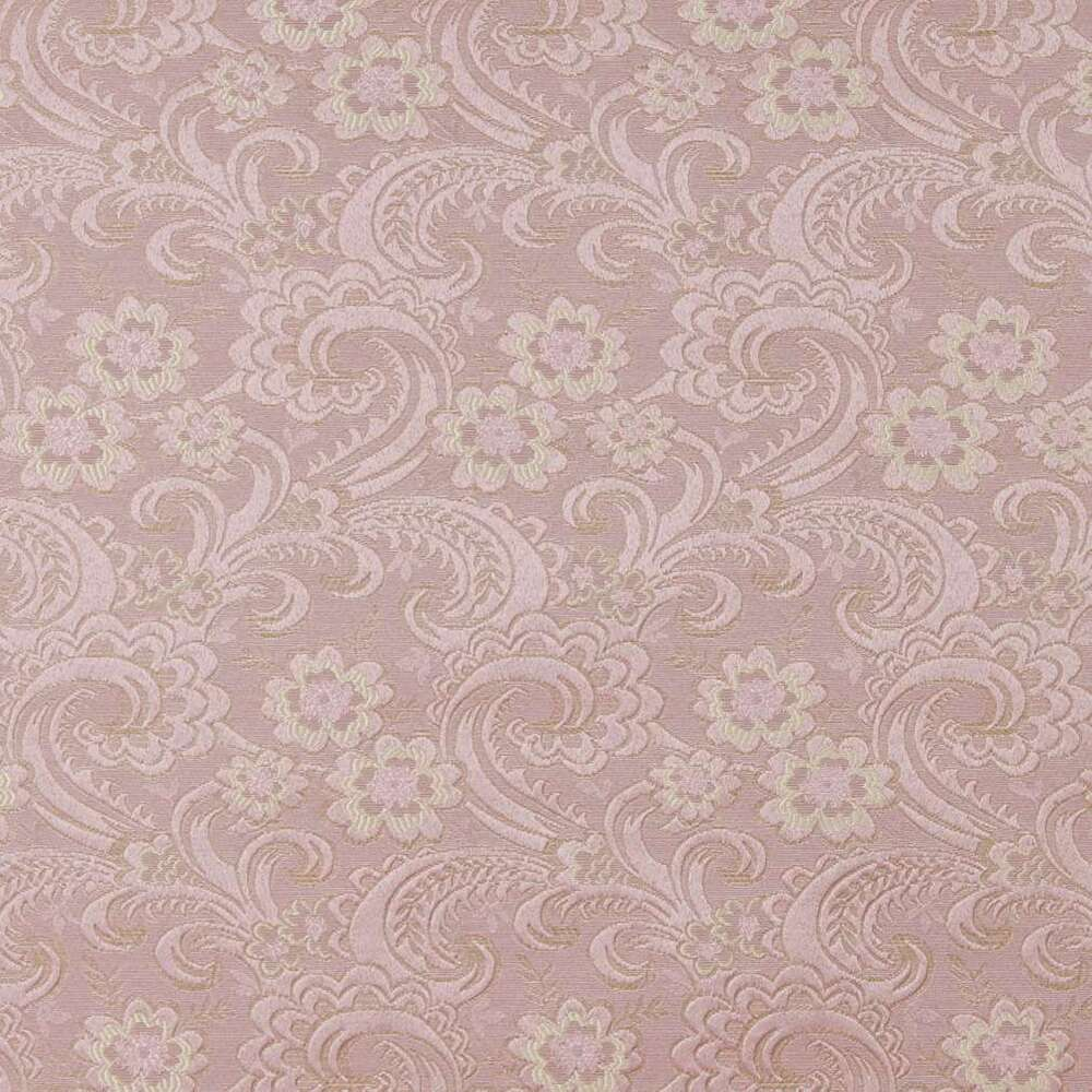 D120 gold and pink paisley floral brocade upholstery for Upholstery fabric