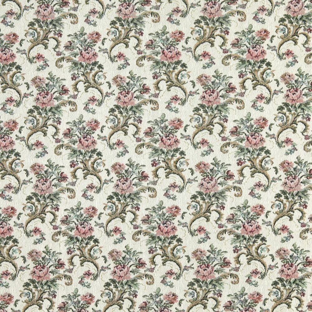 H860 burgundy green and ivory floral tapestry upholstery for Upholstery fabric