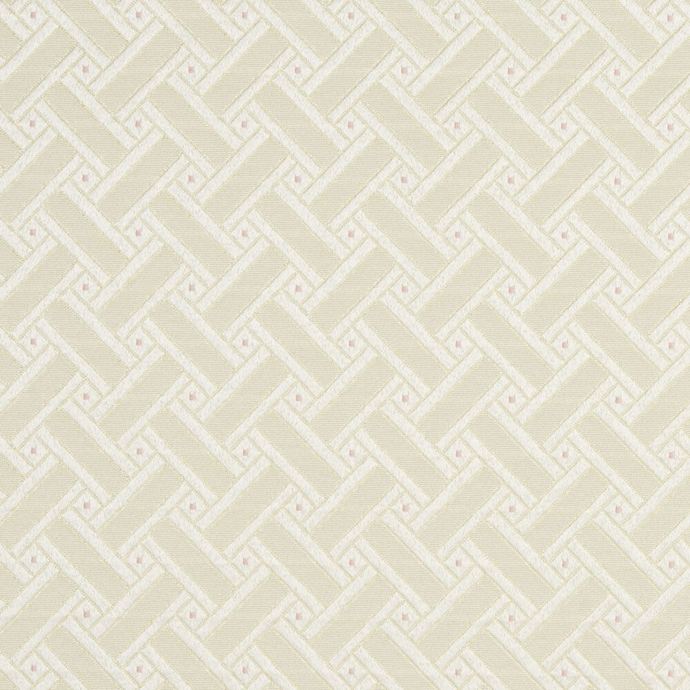 D133 gold pink and white lattice brocade upholstery fabric for By the yard fabric