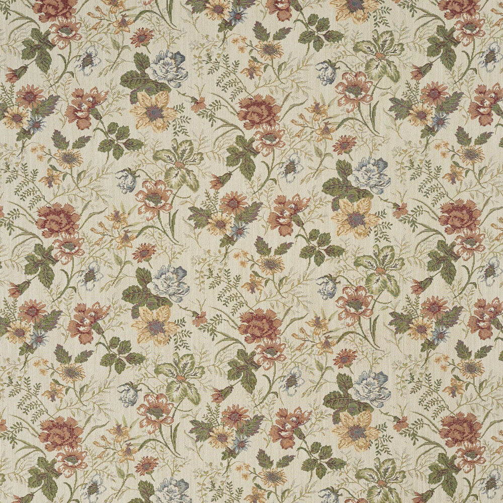 F929 red green and yellow floral tapestry upholstery for Upholstery fabric