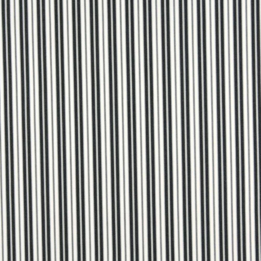 B467 Black Ticking Striped Outdoor Marine Upholstery
