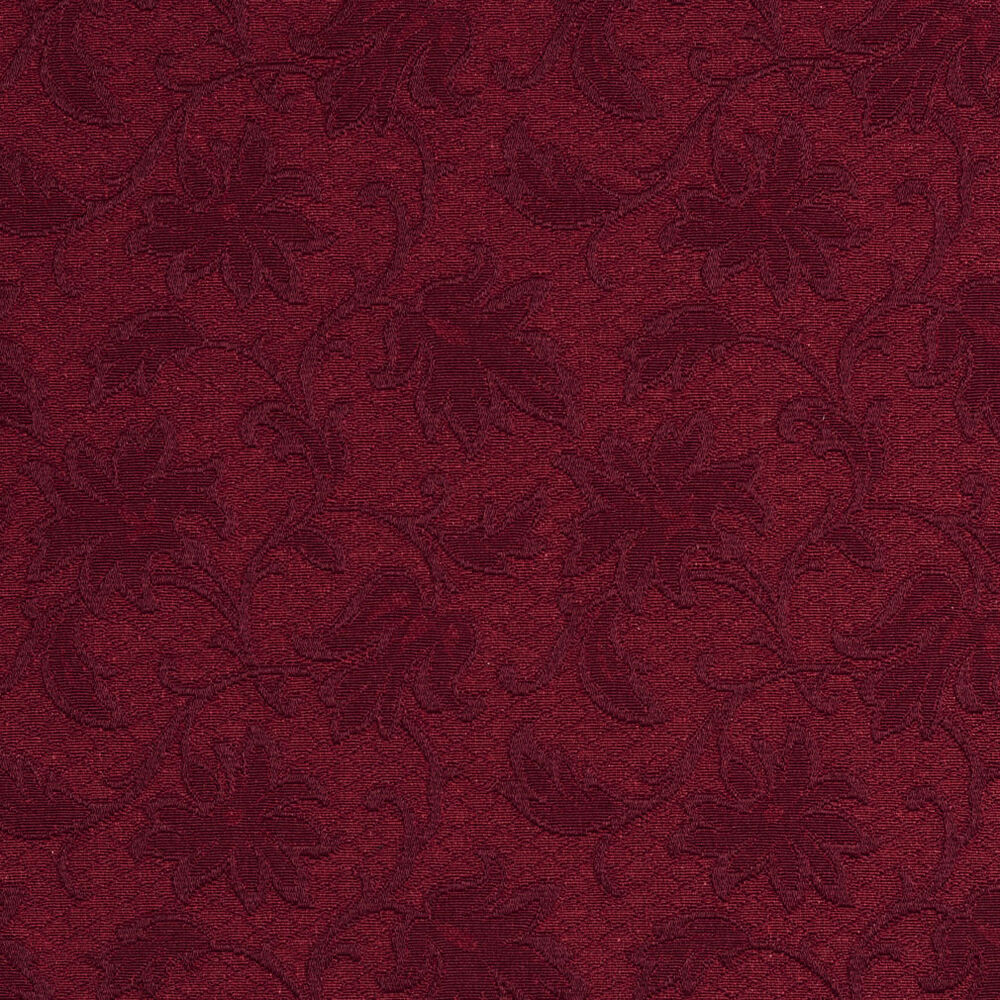 E500 burgundy floral jacquard woven upholstery grade for By the yard fabric