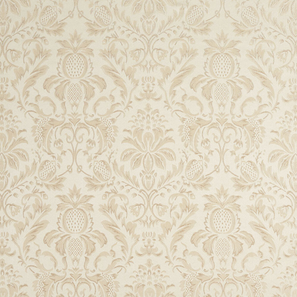 F555 ivory floral pineapple damask upholstery drapery for Upholstery fabric by the yard