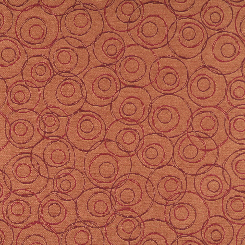 C585 orange red burgundy overlap circles durable for Upholstery fabric