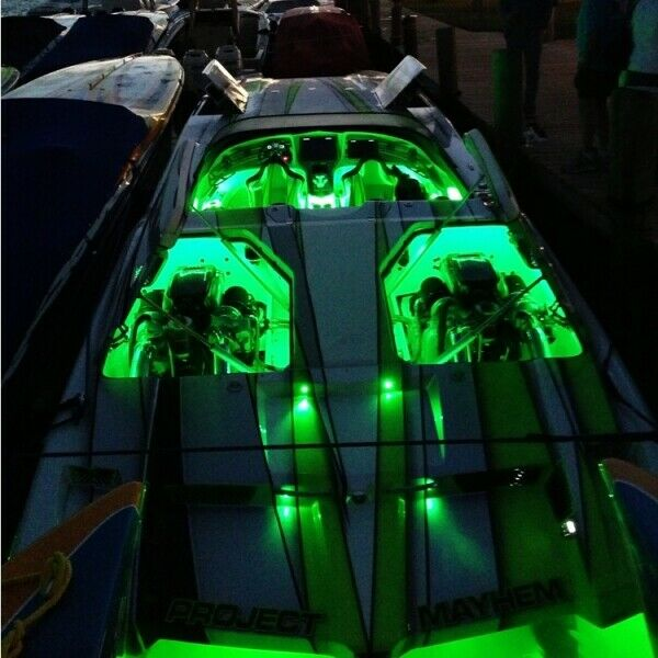 Wireless Green Led Boat Accent Lights Kit Waterproof