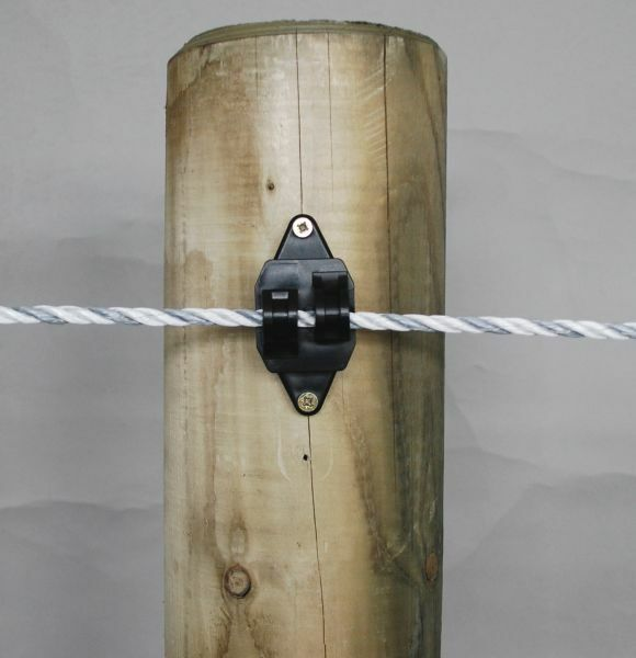 Wire Cable Clamps For Electrical Insulators : Rope insulators electric fencing fence screw in
