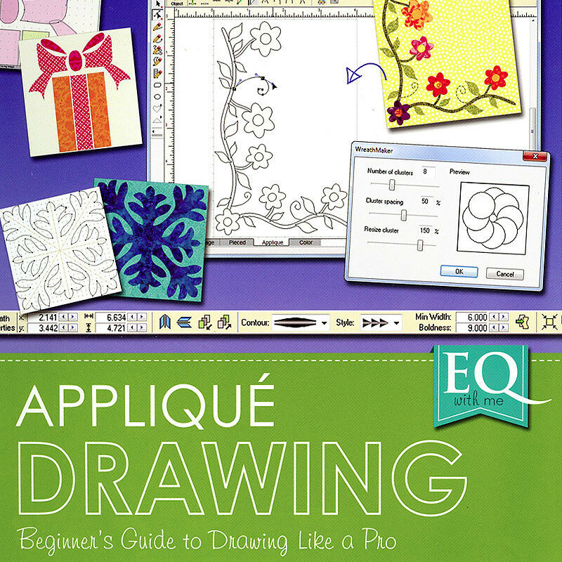 EQ WITH ME APPLIQUE DRAWING EQ7 Software Electric Quilt ...Quilt Drawing Program