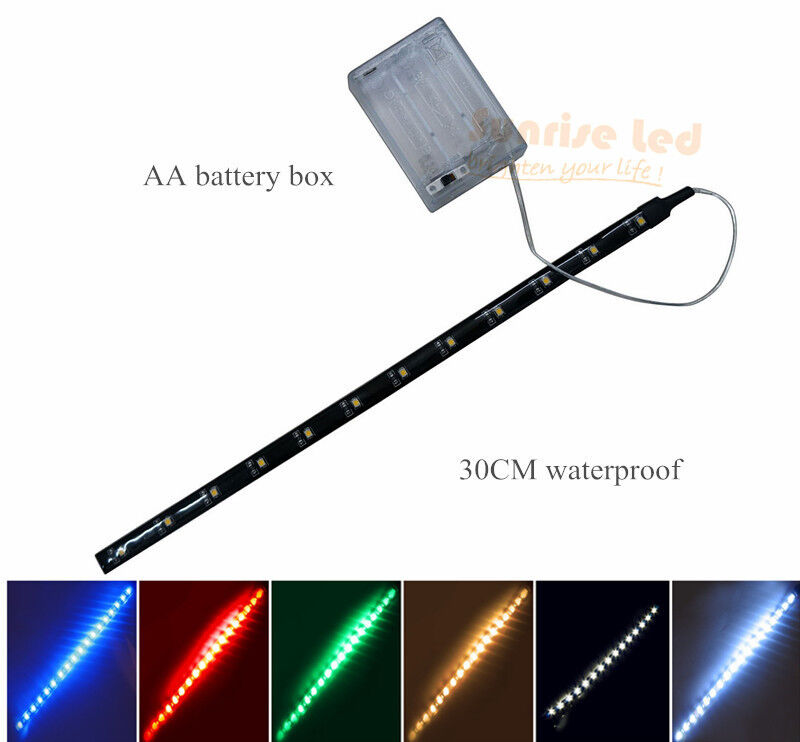 4.5V Battery Operated 30CM LED Strip Light Waterproof Craft Lights Hobby Light eBay
