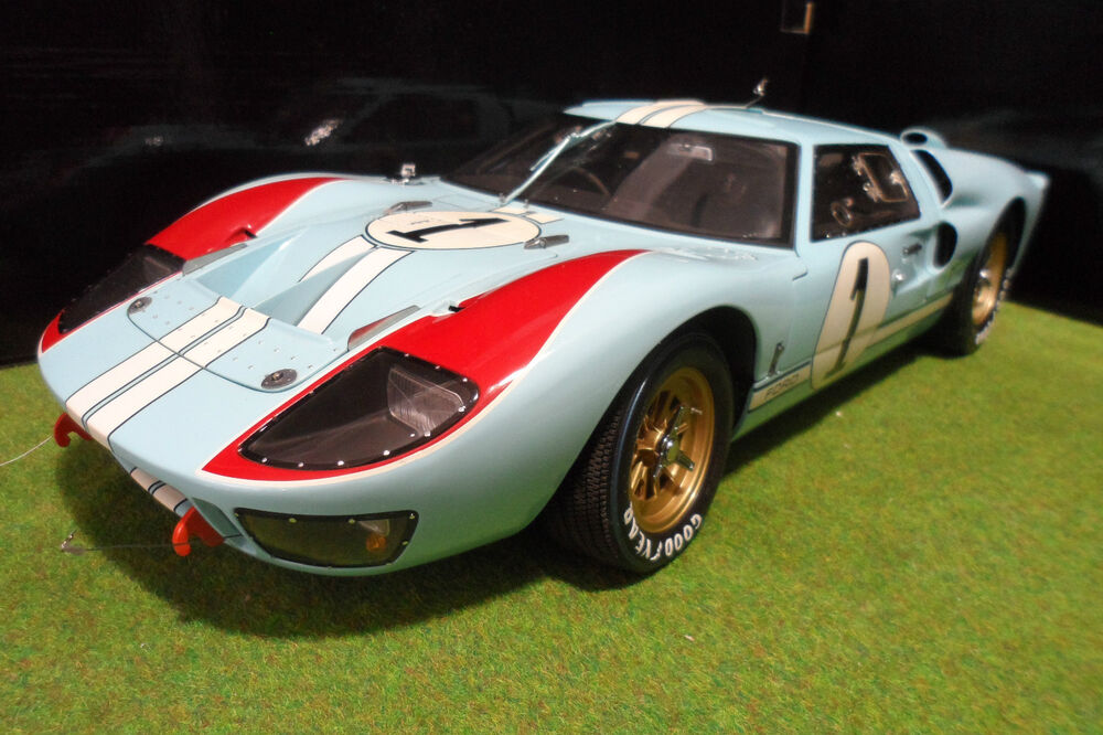 ford gt40 mk ii second 24h le mans 1966 gulf 1 10 exoto 10011 voiture miniature ebay. Black Bedroom Furniture Sets. Home Design Ideas