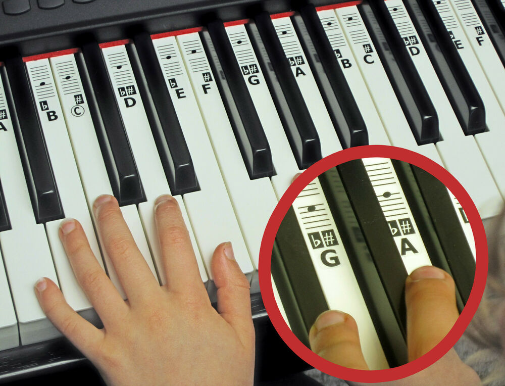 It is a graphic of Exceptional Piano Key Stickers Printable