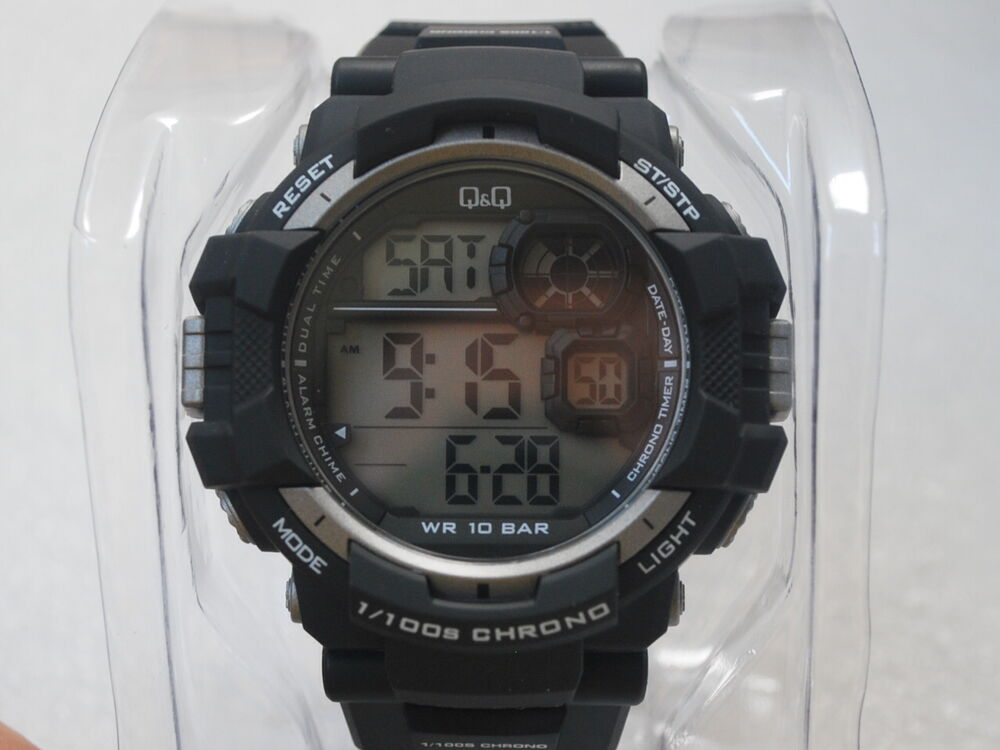 Q q by citizen 1 100s chronograph men 39 s sports watch m143j002y ebay for Q q watches