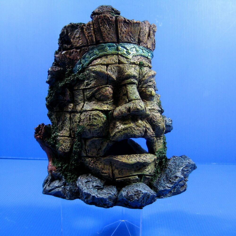 ... Jungle Statue Ruins Cave 20.5cm Aquarium Ornaments Decor Fish Tank