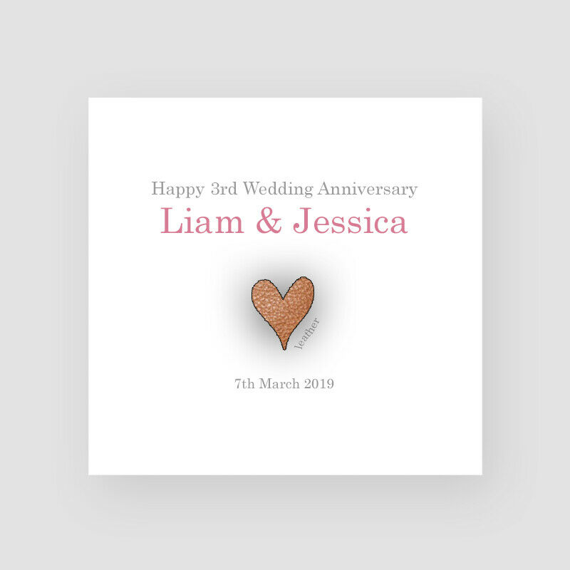 Traditional Gift For 4th Wedding Anniversary: Personalised Handmade 3rd Wedding Anniversary Card
