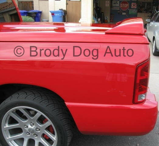 Dodge Bed Covers: Dodge Ram Spoiler For Tonneau Cover Bed Cover SRT 10 Wing
