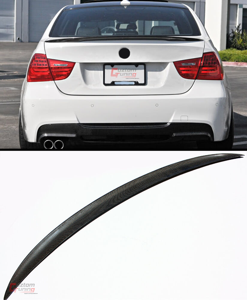 PERFORMANCE REAL CARBON FIBER TRUNK LID SPOILER WING FOR