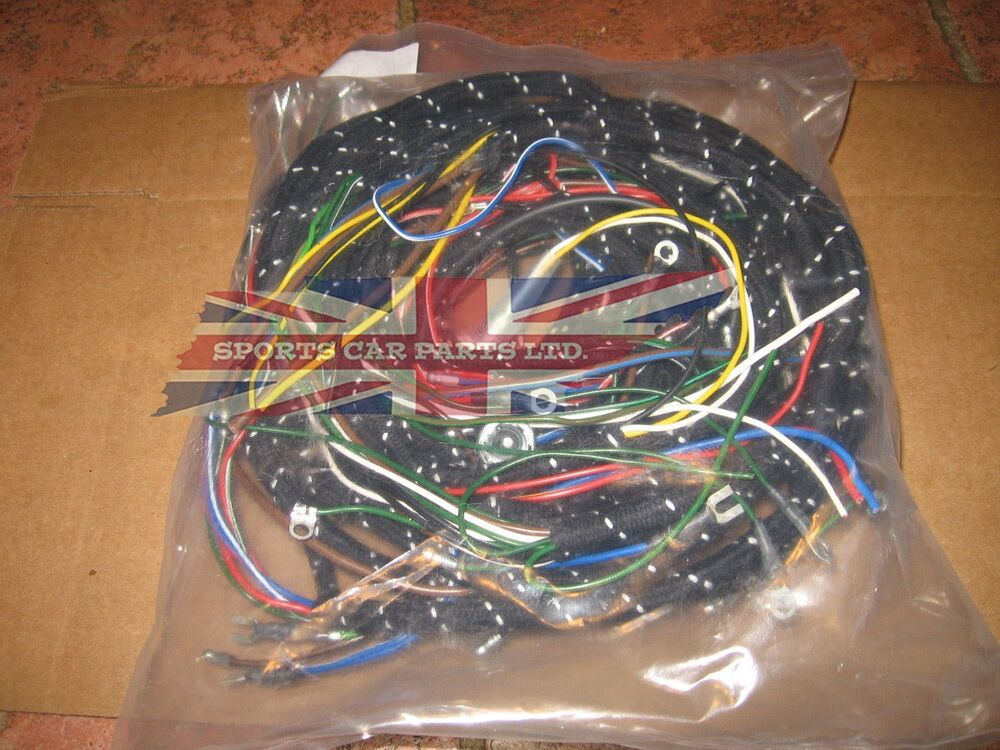 Vintage Wiring Harness Uk : New cloth covered wiring harness for mg mga