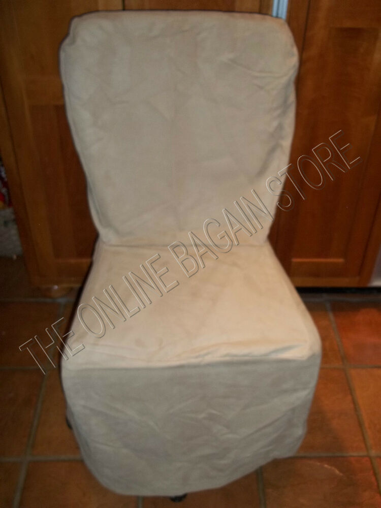 Pottery Barn Mesa EverydaySuede LooseFit SIDE Dining Chair