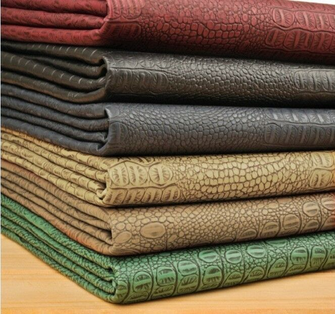 Half yard alligator skin embossed faux leather fabric for for Fake leather upholstery