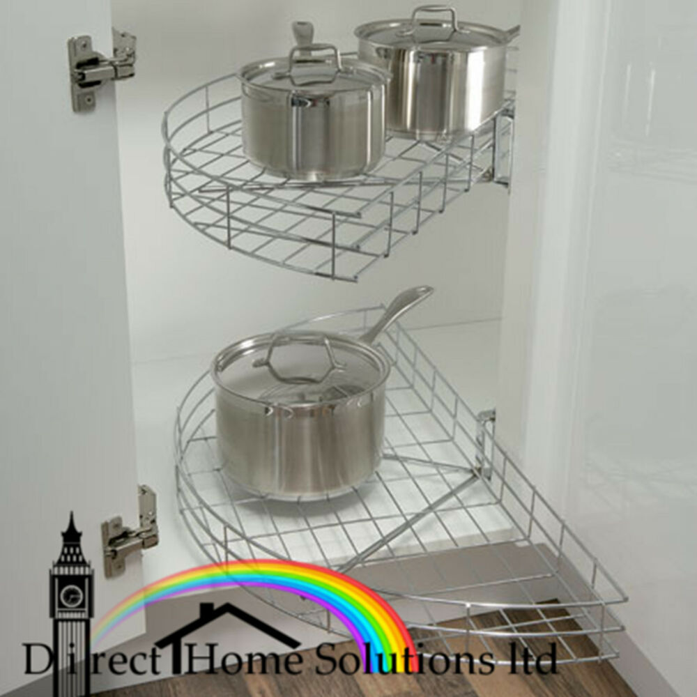 Kitchen corner unit carousel half circle set 420mm door for Kitchen unit set