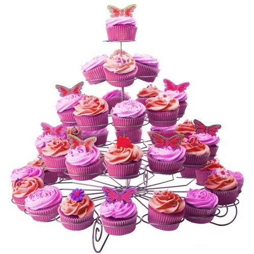 5 tier cupcake stand metal holder tower wedding birthday